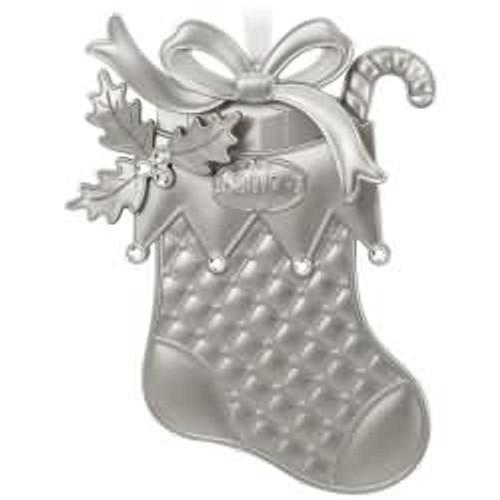 2017 Christmas Stocking Hallmark ornament - QGO1802