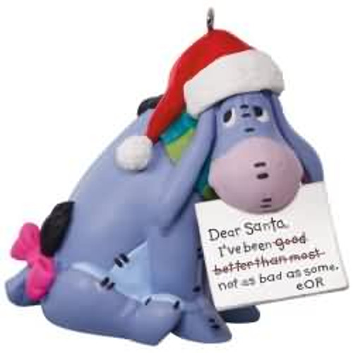 2017 Disney - A Letter to Santa - Winnie The Pooh Hallmark ornament - QXD6152