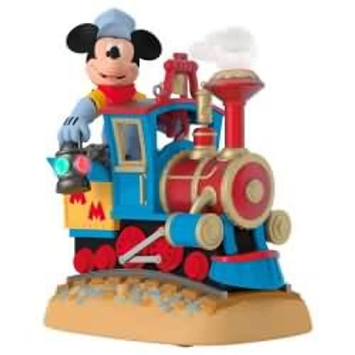 2017 Disney - Mickey's Magical Railroad - Mickey Mouse Hallmark ornament - QXD6155