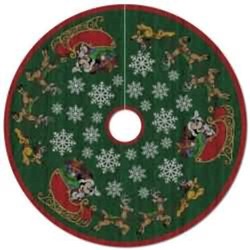 2017 Disney - Oh, What Fun! Tree Skirt - Mickey Mouse Hallmark ornament - QFM6285