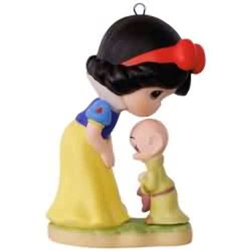 2017 Disney - Precious Moments - Snow White and Dopey Hallmark ornament - QXD6182