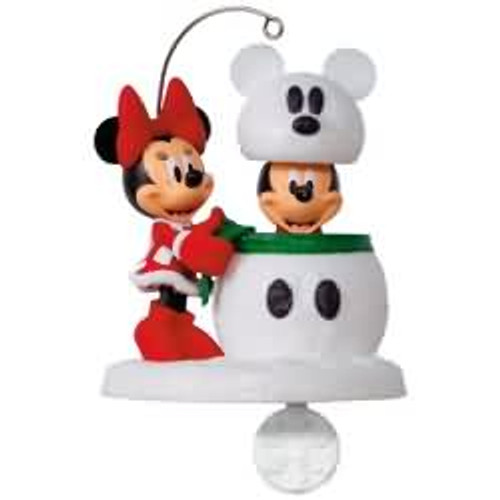 2017 Disney - Snowmouse Surprise - Mickey and Minnie Hallmark ornament - QXD6162