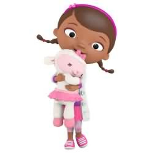 2017 Disney - Doc and Lambie - Doc McStuffins Hallmark ornament - QXD6282