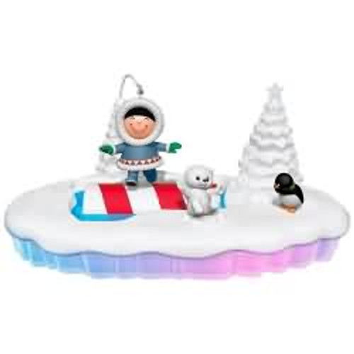 2017 Frosty Friends - 'Let the Good Times Roll Hallmark ornament - QFM1065