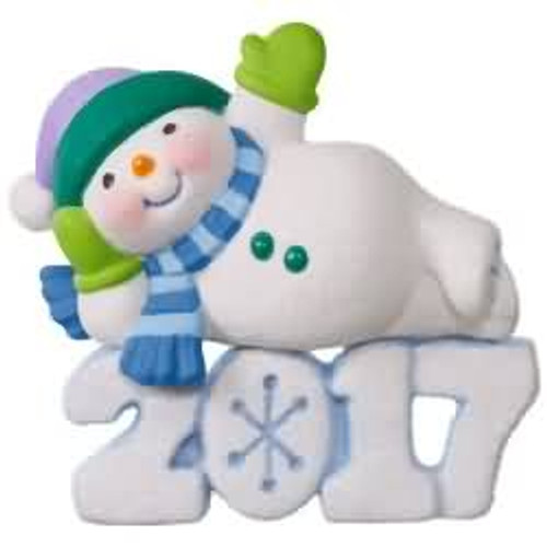 2017 Frosty Fun Decade #8 Hallmark ornament - QX9325