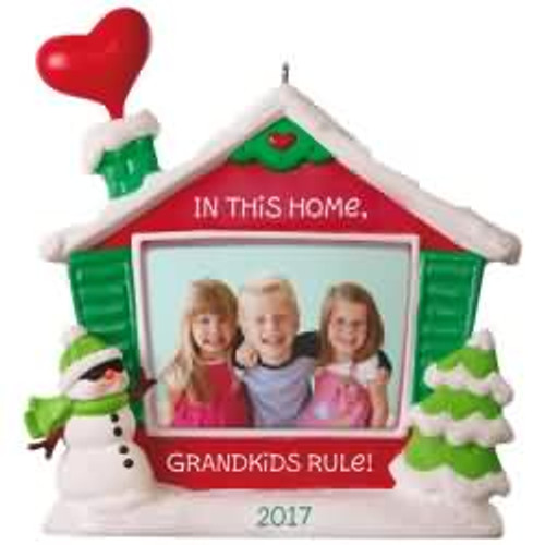 2017 Grandkids Rule! - Photo Holder Hallmark ornament - QGO1162