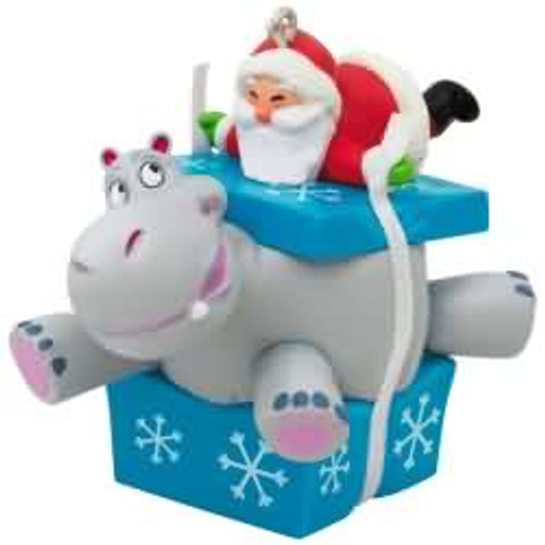 2017 I Want a Hippopotamus for Christmas Hallmark ornament - QGO1045