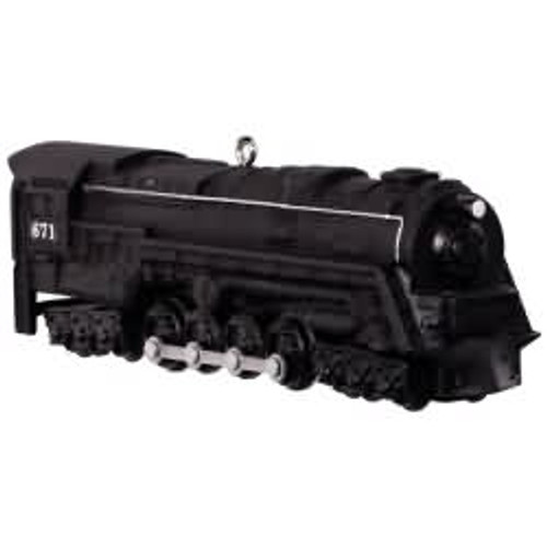 2017 Lionel #22 - 671 S-2 Turbine Steam Locomotive Hallmark ornament - QX9262