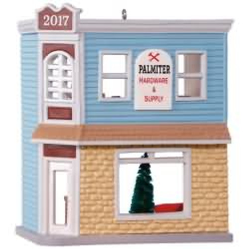 2017 Nostalgic Houses and Shops #34 - Palmiter Hardward and Supply Hallmark ornament - QX9462