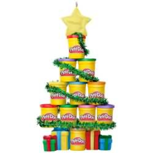 2017 O Play Doh Tree - Hasbro Hallmark ornament - QXI1402