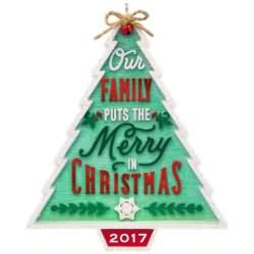 2017 Our Family...Our Christmas Hallmark ornament - QGO1112