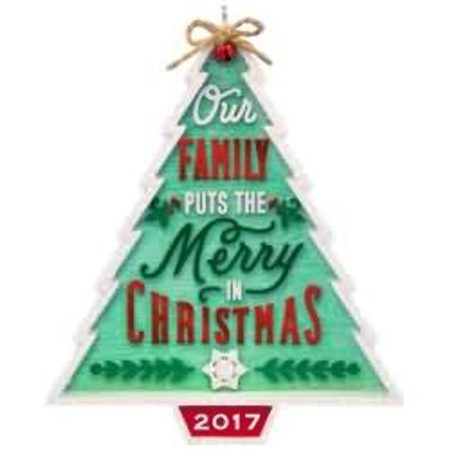 2017 Our Family...Our Christmas Hallmark ornament - QGO1112