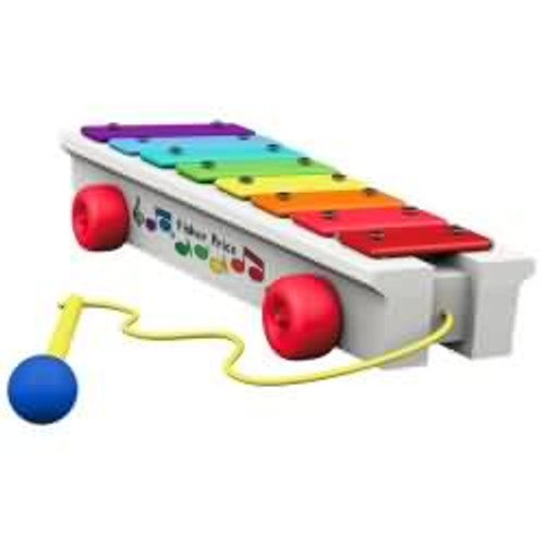 2017 Pull-a-Tune - Xylophone - Fisher Price Hallmark ornament - QXI3254