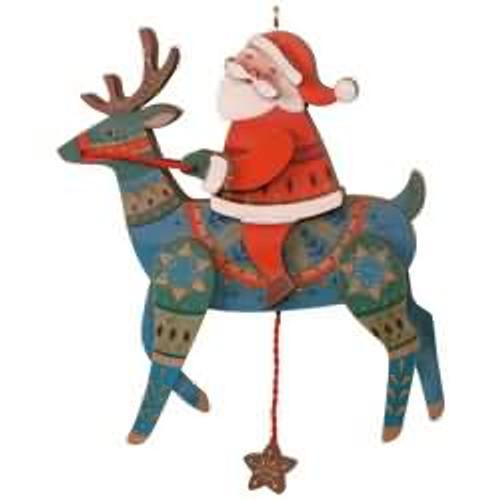 2017 Pull-String Reindeer Hallmark ornament - QK1452