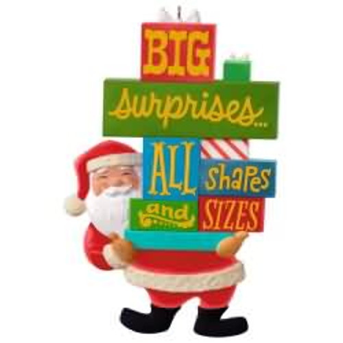 2017 Santa's Big Surprise Hallmark ornament - QGO1712