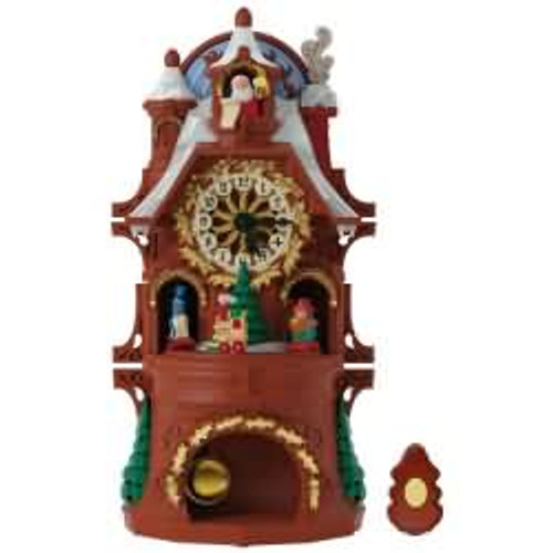2017 Santa's Christmas Clock Hallmark ornament - QFM1232