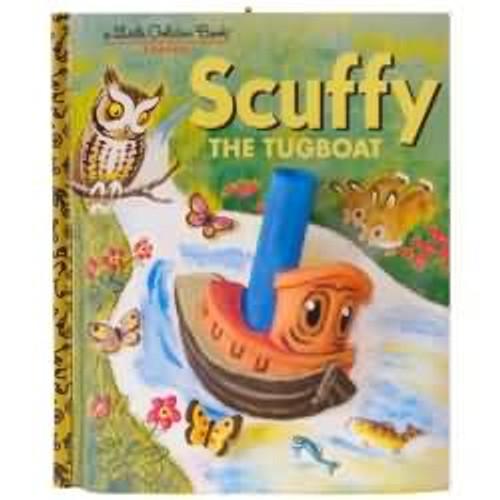 2017 Scuffy the Tugboat - Little Golden Books Hallmark ornament - QXI3375