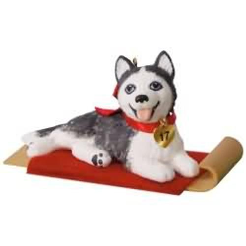 2017 Puppy Love #27 - Siberian Husky Hallmark ornament - QX9342