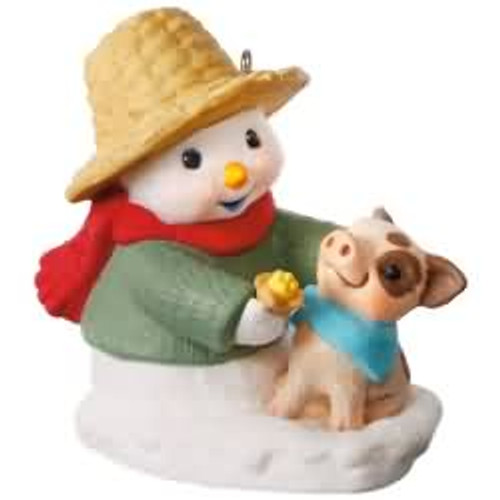 2017 Snow Buddies #20 - Pig Hallmark ornament - QX9332