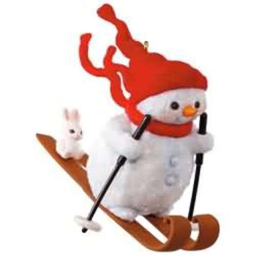 2017 Snowman on the Slopes Hallmark ornament - QGO1815