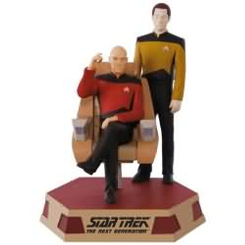 2017 Star Trek - Captain Jean Luc Picard and Lt Commander Data Hallmark ornament - QXI3402