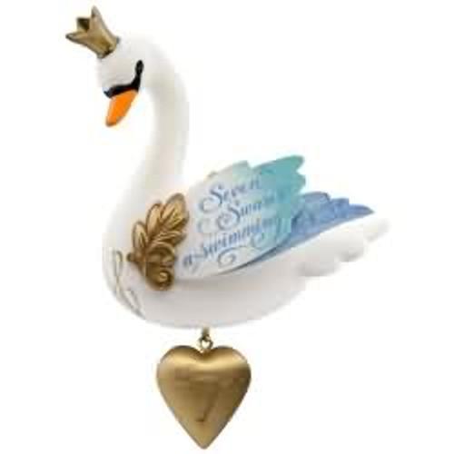 2017 Twelve Days #7 - Seven Swans a Swimming Hallmark ornament - QX9345