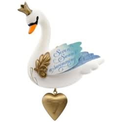 2017 Twelve Days #7 - Seven Swans a Swimming Hallmark ornament - QX9345