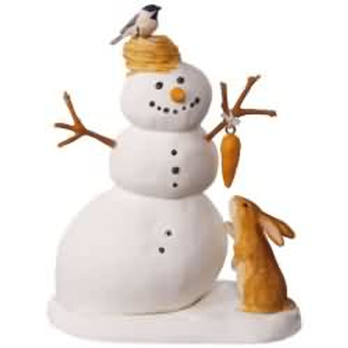 2017 Winter White Snowman Hallmark ornament - QXI2425