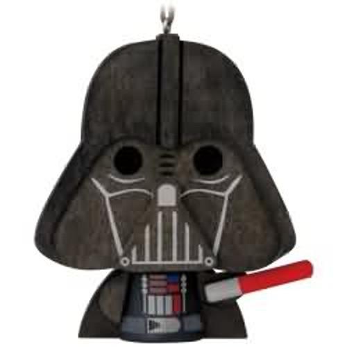 2017 Wooden - Darth Vader Hallmark ornament - QKK3536