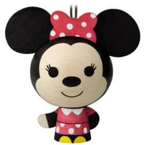2017 Wooden - Minnie Mouse Hallmark ornament - QKK3546