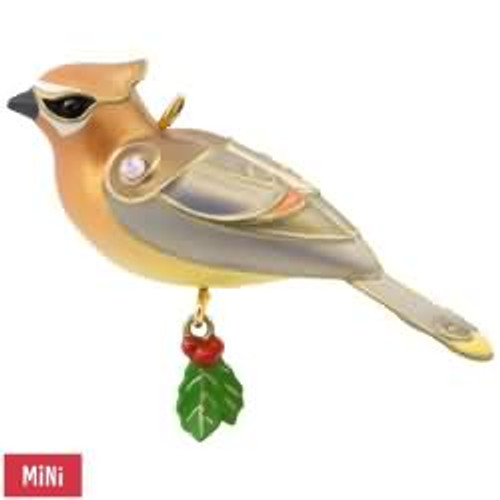 2017 Beauty of Birds - Mini - Cedar Waxwing Hallmark ornament