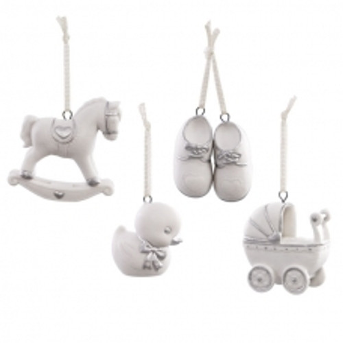 2017 Welcome Baby Ornament Set (QHX1094-D)