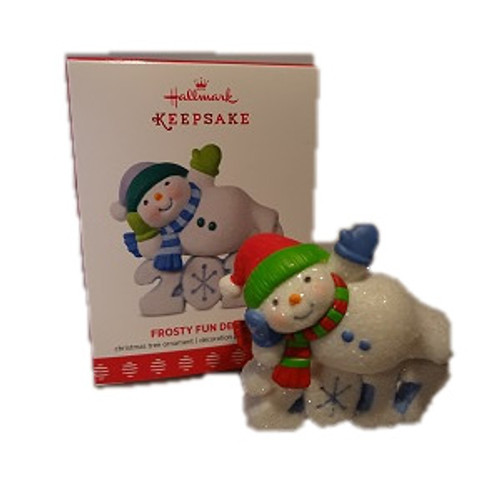 2017 Frosty Fun Decade #8  - Event Repaint Hallmark ornament - QX9325C