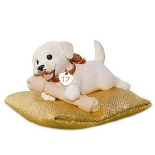 2017 Playful Puppy Surprise Hallmark ornament - QGO1742-G