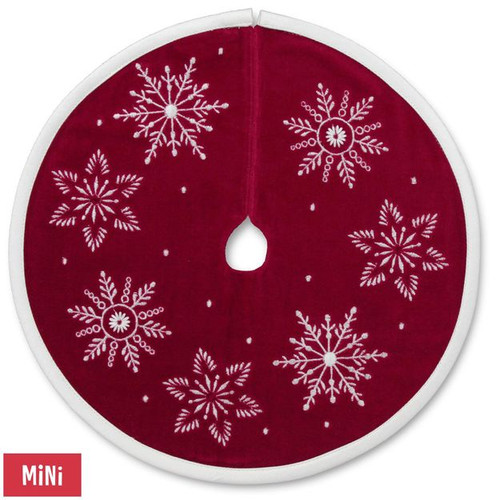 2017 Miniature Red Velvet Tree Skirt (QFM3341)