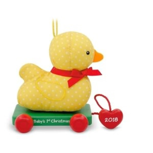 2018 Baby's 1st Christmas - Duck Pull Toy