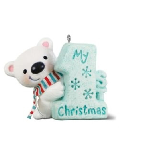 "2018 My 1st Christmas - Bear with ""1"""