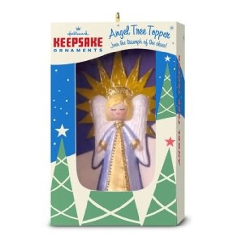 2018 Nifty Fifties Angel Tree Topper Ornament