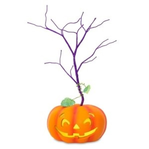 2018 Halloween - Miniature Keepsake Ornament Tree - Pumpkin