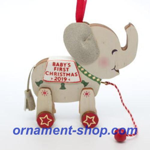 2019 Baby's 1st Christmas - Elephant Hallmark ornament (QGO2387)