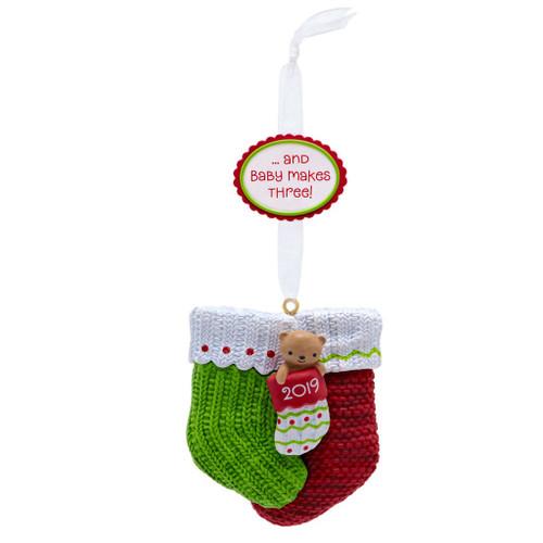 2019 Baby Makes Three Hallmark ornament (QGO2357)