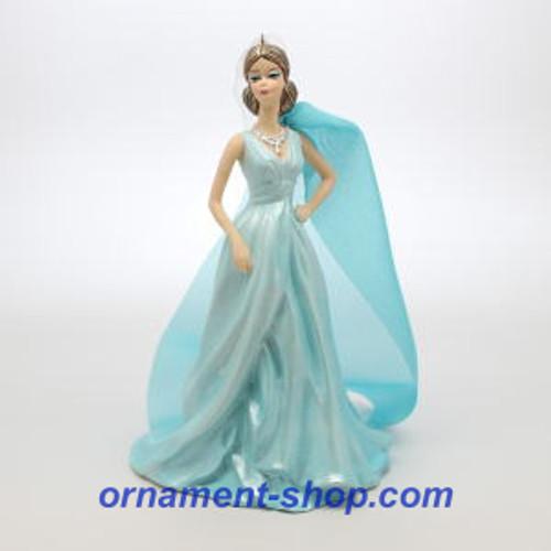 2019 Barbie - Blue Chiffon Fashion Barbie - Club Hallmark ornament (QXC5387)