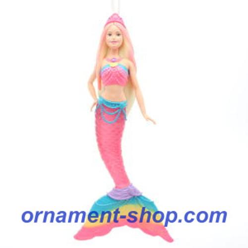 2019 Barbie - Rainbow Lights Mermaid Barbie Hallmark ornament (QXI3077)