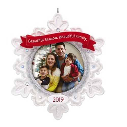 2019 Beautiful Family - Photo Hallmark ornament (QGO2079)