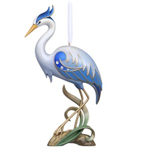 2019 Beauty of Birds Anniversary - Great Blue Heron Hallmark ornament (QGO2439)