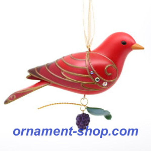 2019 Beauty of Birds #15 - Summer Tanager Hallmark ornament (QXR9417)
