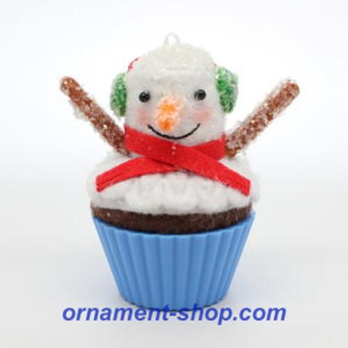 Snowman Cake 2013 Keepsake Ornaments Hallmark Santa Cupcake