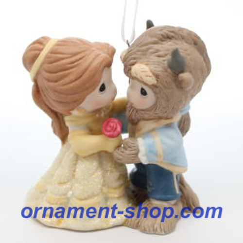 2019 Disney - Belle and Beast - Precious Moments Hallmark ornament (QXD6279)