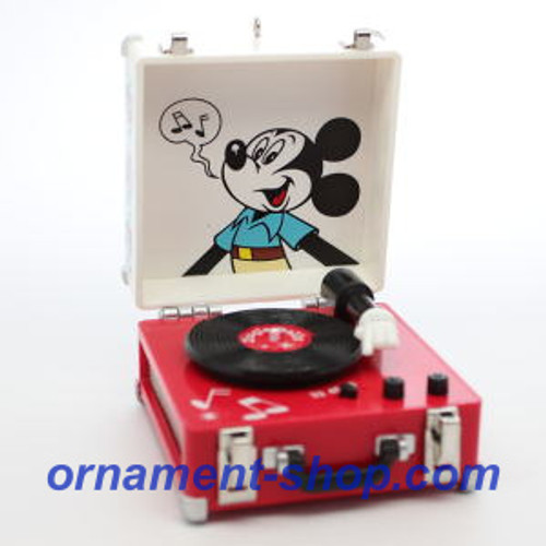 2019 Disney - Mickey Mouse Record Player Hallmark ornament (QXD6189)