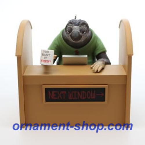 2019 Disney - Zootopia - Flash Slothmore Hallmark ornament (QXD6387)